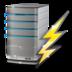 hosting, power, server, status icon