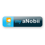 anobii, blue, large icon