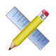 application, pencil, ruler icon