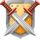 shield, swords icon