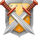 shield, swords icon
