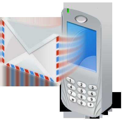 recieve, sms icon