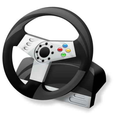 controller, gaming, steering wheel icon