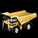 rigid, dump, truck, construction icon