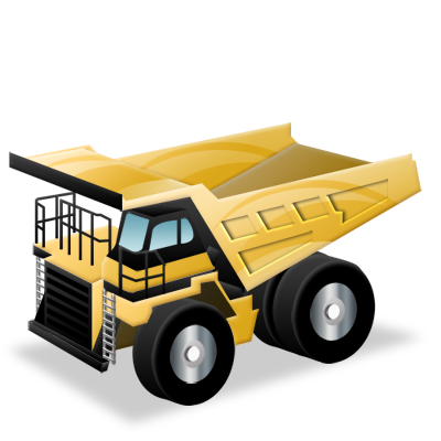 construction, dump, rigid, truck icon