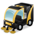 hydraulic, sweeping icon