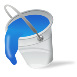 blue, bucket, color, fill, paint icon