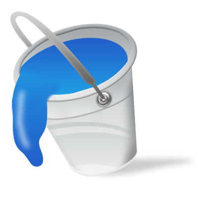 Blue Bucket Color Fill Paint Icon Icon Search Engine