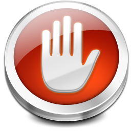 hand, stop icon