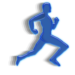 animation, man, running icon