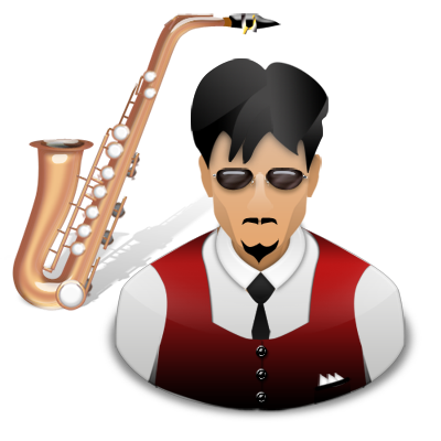 musician, saxophone icon