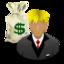 banker, money, rich icon