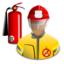 bombero, bomberos, firefighter icon