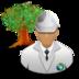 engineer, environmental, green icon