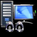 computer, multimedia icon