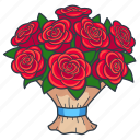 bouquet, floral, flowers, gift, present, rose, roses icon