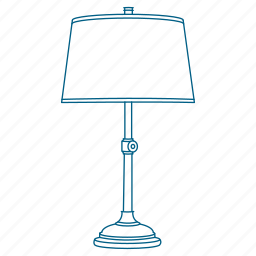 bed, bedside, lamp, light, night, sleep, table icon