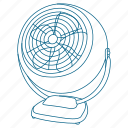 air, breeze, cool, fan, sleep icon