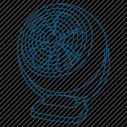 air, breeze, cool, fan, sleep icon
