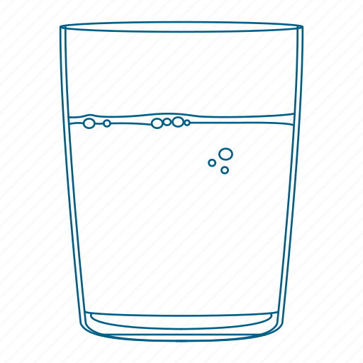 clear, cup, drink, glass, water icon