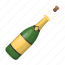 accessory, attributes, bottle, champagne, entertainment, fun, party icon