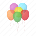 accessory, attributes, balloon, colorful, entertainment, fun, party icon