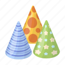 accessory, attributes, cap, cone, entertainment, fun, party icon