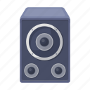 accessory, attributes, entertainment, fun, music, party, speaker icon