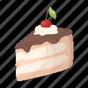 accessory, attributes, cake, dessert, entertainment, fun, party icon