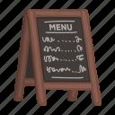 banner, menu, nameplate, price, price list, signboard icon