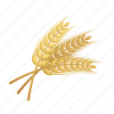 barley, beer, grain, ingredient, malt, raw materials, spikelet icon