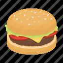 burger, fast food, food, sandwich, snack icon