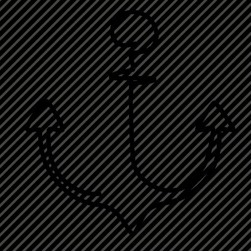 anchor, boat, sailing icon