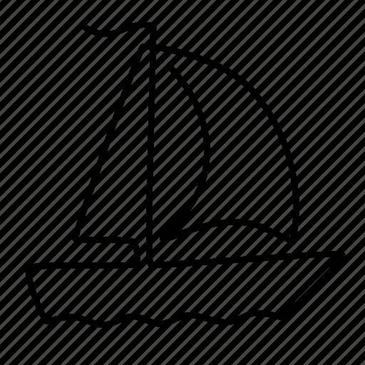 boat, sailing, travel icon