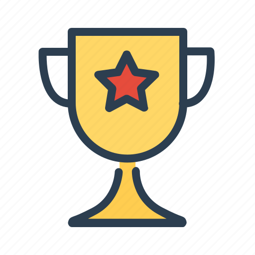 achievement, award, cup, prize, star, trophy, winner icon