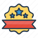 achievement, award, badge, ribbon, seal, stars, winner icon