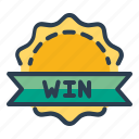 achievement, award, badge, prize, victory, win, winner icon