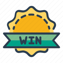 achievement, award, badge, prize, victory, win, winner icon
