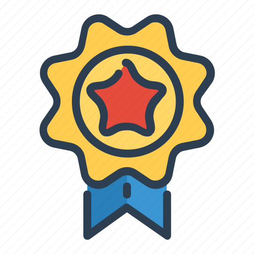 achievement, award, best, medal, prize, ribbon, star icon