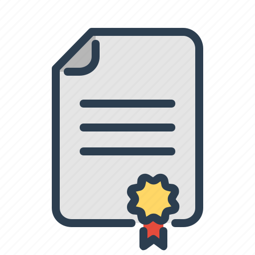 agreement, award, certificate, conract, deal, license, seal icon