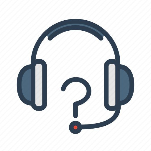 call center, customer support, headphones, help, help service, question, technical support icon