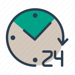alarm, available, clock, help, management, online, whole day icon