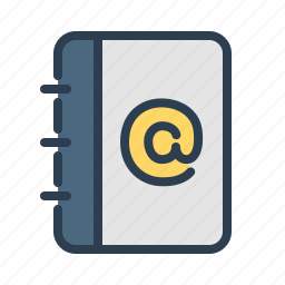 address book, contact list, contacts, dairy, email, mail, notepad icon