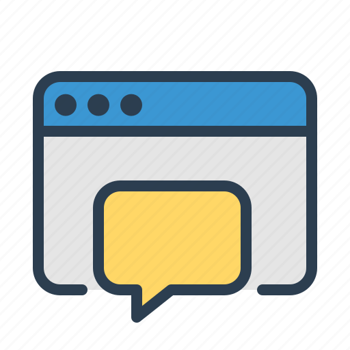 assistance, browser, consulting, customer service, message bubble, online chat, support icon