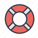 help desk, lifebelt, lifesaver, support icon