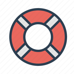 customer service, help, help desk, lifebelt, lifesaver, safety, support icon