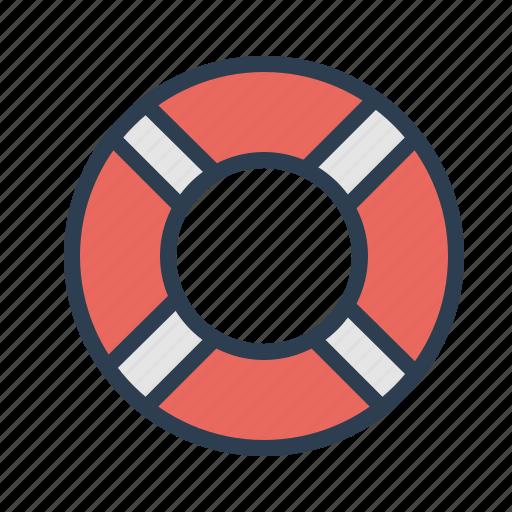 help desk, lifebelt, lifesaver, support icon