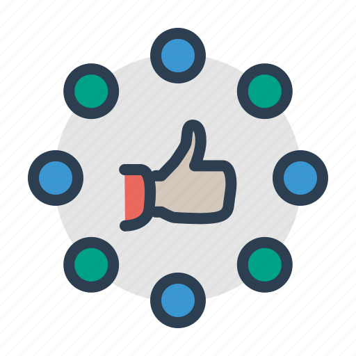 connection, like, social network, thumbup icon