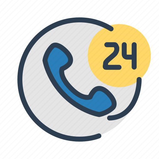 available, call, service center, support, whole day icon