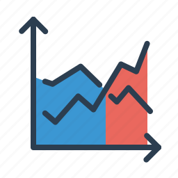 analytics, chart, diagram, earnings, line graph, sales, statistics icon